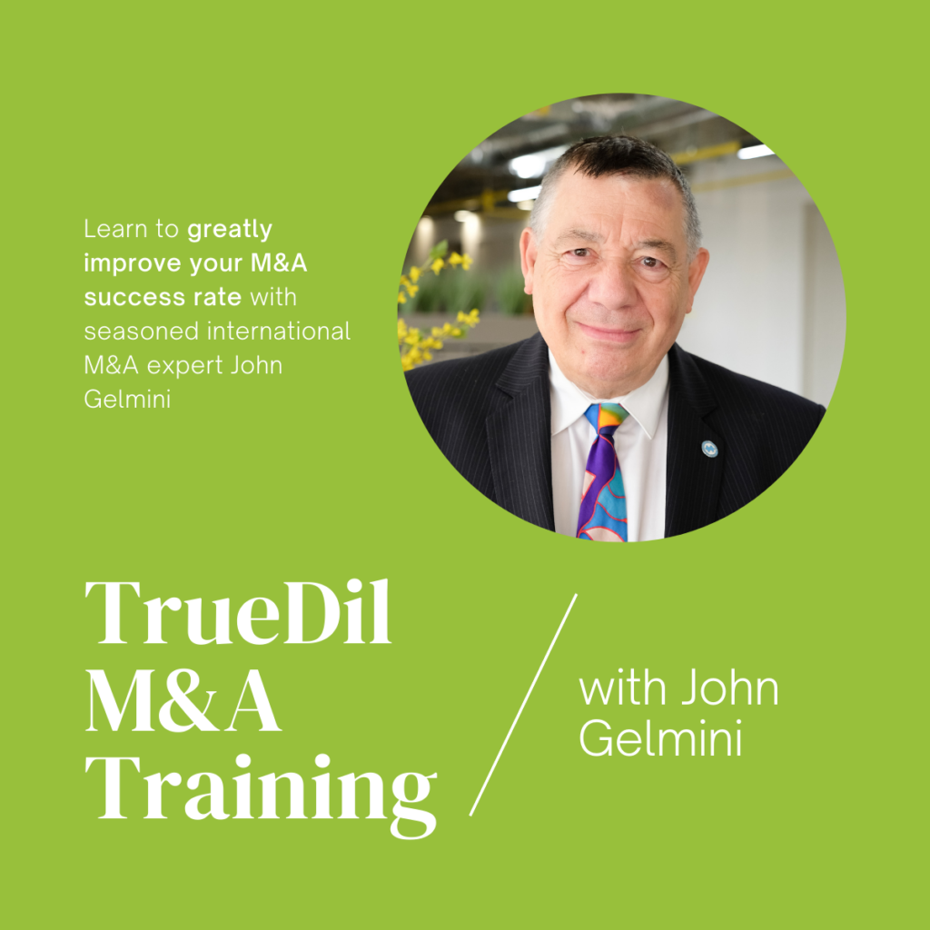 TrueDil M&A training course banner